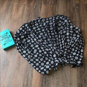 American Eagle Outfitters boho wrap blouse